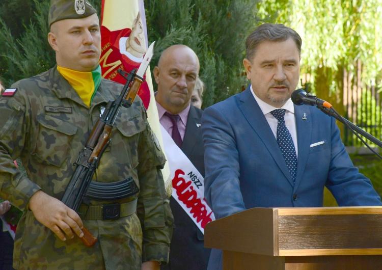 """[FOTO] Piotr Duda: """"Dziś nasza solidarnościowa droga ku wolności przywiodła nas do Żyrardowa"""""""