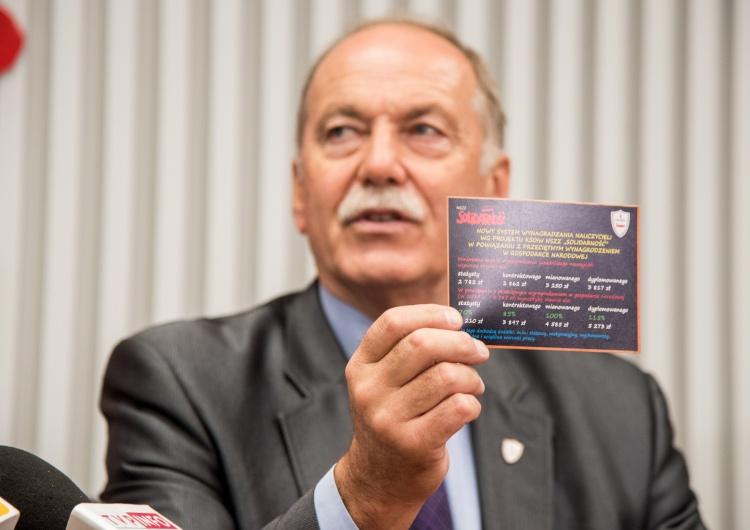 """""""Domagamy się spełnienia zobowiązań dot. wynagrodzeń"""". Solidarność wysyła pocztówki do ministra edukacji"""