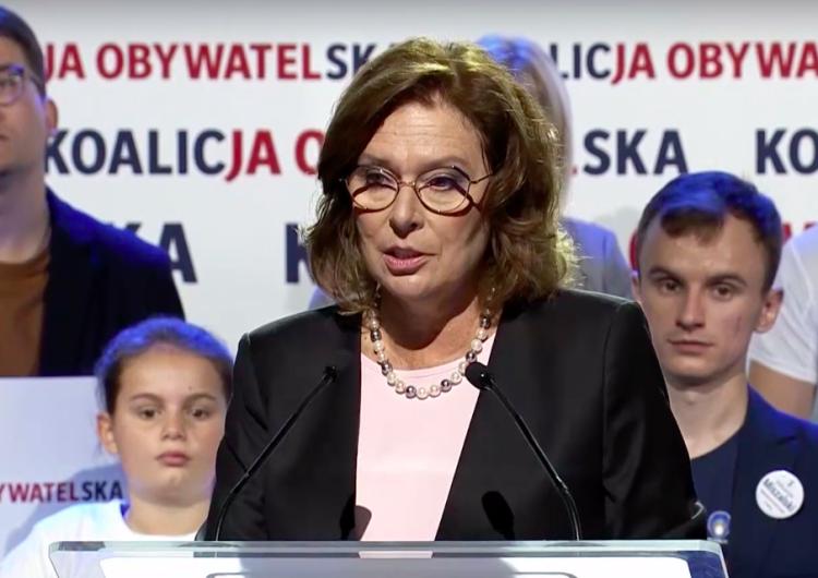 """Sejm potępia akty pogardy antykatolickiej. Kidawa-Błońska była """"za"""". Twierdzi, że zagłosowała """"omyłkowo"""""""