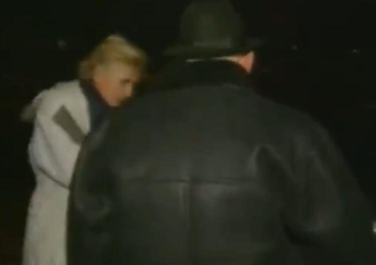 """[video] Nagranie sprzed lat. Urban, Michnik, Monika Olejnik. """"To będzie sfilmowane?"""""""