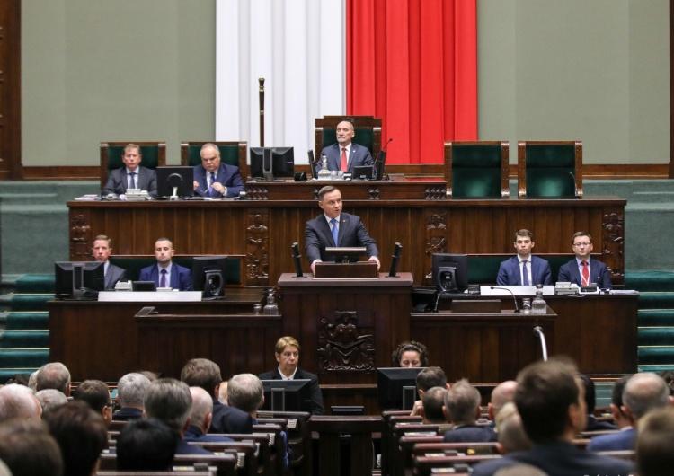"""[video] Orędzie prezydenta Dudy na inauguracji Sejmu: """"Chciałbym, żeby Państwo podali sobie rękę"""""""