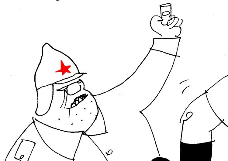 """[Kliknij aby zobaczyć całość] Nowy rysunek Krysztopy: """"Duchy postępowej Warszaffki"""""""