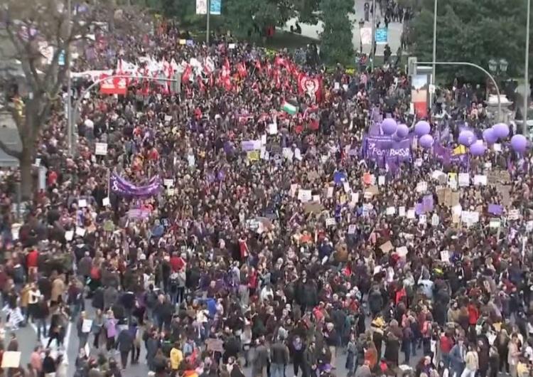 W Madrycie, głównym ognisku koronawirusa odbyła się 120-tysięczna manifestacja feministek