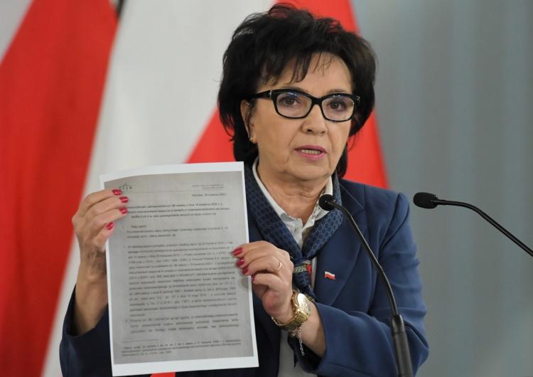 """""""Ktoś się podszywa pod Biuro Analiz Sejmowych"""". Elżbieta Witek zleciła skierowanie wniosku do prokuratury"""