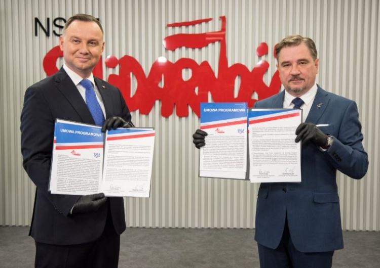 Znamy pełną treść umowy programowej zawartej pomiędzy NSZZ Solidarność a Prezydentem RP Andrzejem Dudą