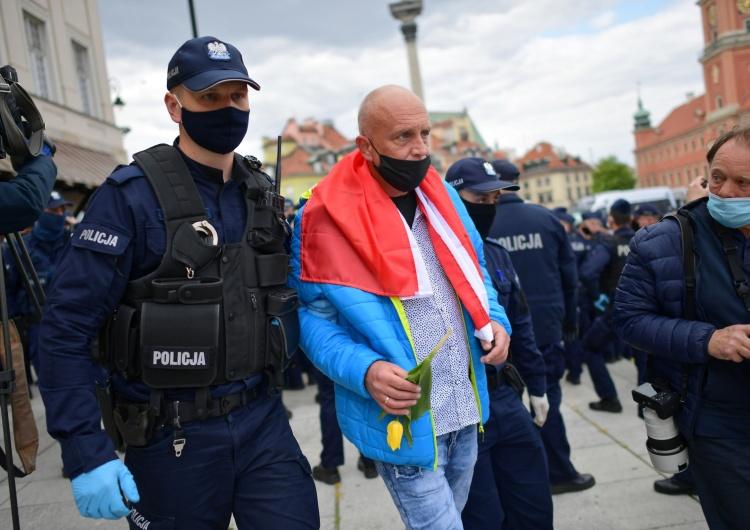 """Marcin Obara """"Agresja wobec policjantów, czynna napaść na funkcjonariuszy"""". Powrót """"strajku przedsiębiorców"""""""