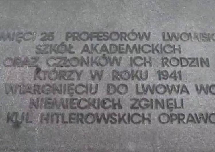 Profanacja pomników polskich profesorów i ofiar Zbrodni w Podkamieniu na Ukrainie