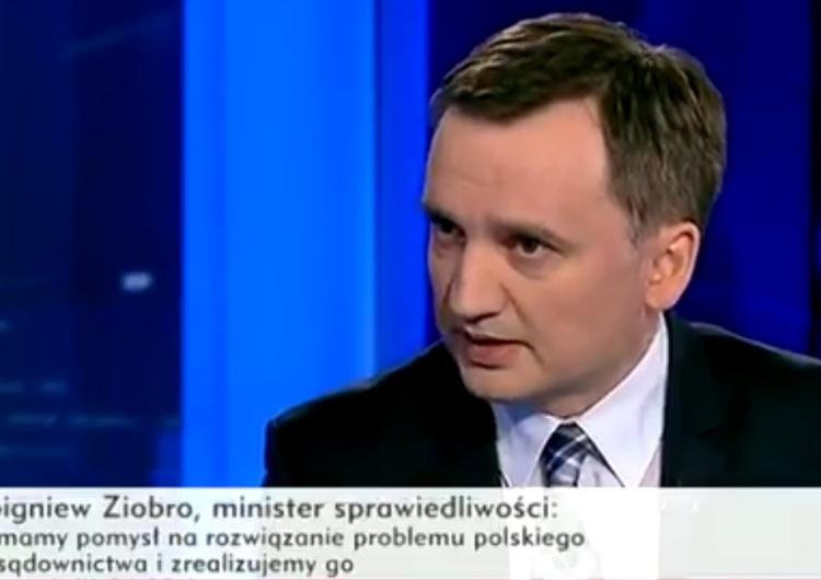 Minister Ziobro: Jeżeli sędziowie będą sie stawiać ponad prawem, będą się musieli liczyć z konsekwencjami