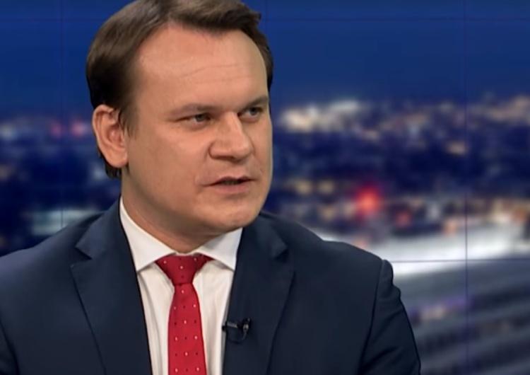 """zrzut ekranu Dominik Tarczyński: """"Takie rzeczy w wyborczej?! Piekło zamarzło!"""""""